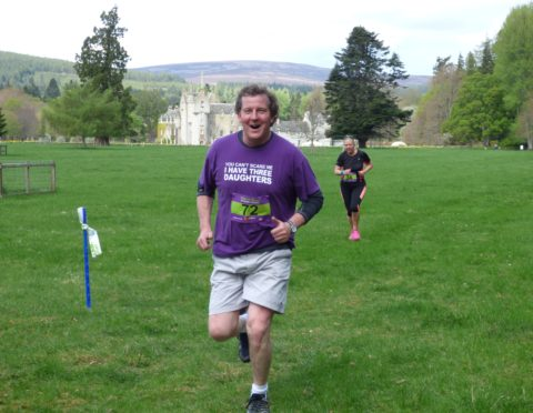 Guy Macpherson-Grant taking part in last year's Fun to Run
