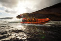 """Arran RNLI's volunteer inshore lifeboat crew (ILB) out on exercise in their Atlantic 85, the same class of lifeboat soon to be received by Stonehaven's crew"""