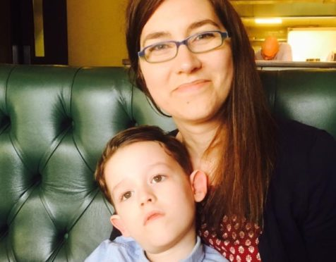 Nicola Miller with her son, Eddison.