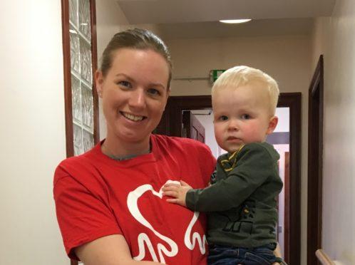 Millie Rae and son Austin