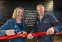 Clea Warner, General Manager, North West & Islands with Simon Skinner, Chief Executive National Trust for Scotland  officially open the new Glencoe Visitor Centre . PICTURE IAIN FERGUSON, THE WRITE IMAGE