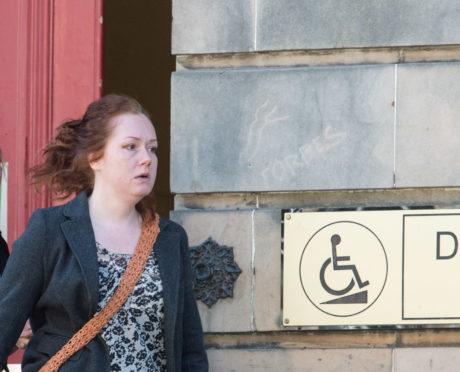 Hazel Arnott is pictured leaving Elgin Sheriff Court,