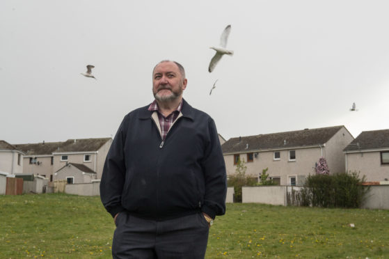 Cllr John Divers is pictured near his home in New Elgin, Moray. Picture by Jason Hedges.