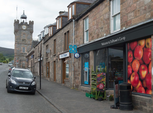 Locators of the Co-op in Dufftown, Moray. Pictures Jason Hedges
