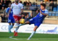 Aaron Norris in action for Peterhead at the start of last season.