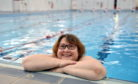 Gillian Craig will be swimming 214 lengths of Tullos pool to raise funds for Ward 214 at ARI. Pictures by Kami Thomson.