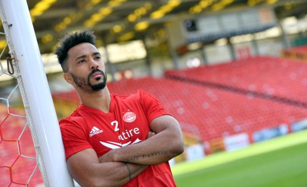 Aberdeen FC defender Shay Logan.