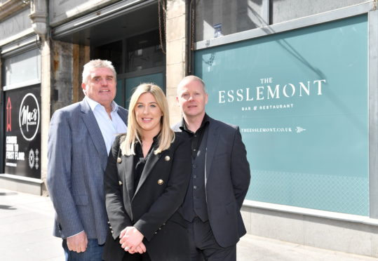 Pictured - Allan Henderson, Jillian Miller and Alan Aitken of McGinty's at the site.          Picture by Kami Thomson