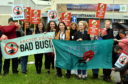 Friends of the Earth were protesting at the global AGM of BP.          Picture by Kami Thomson