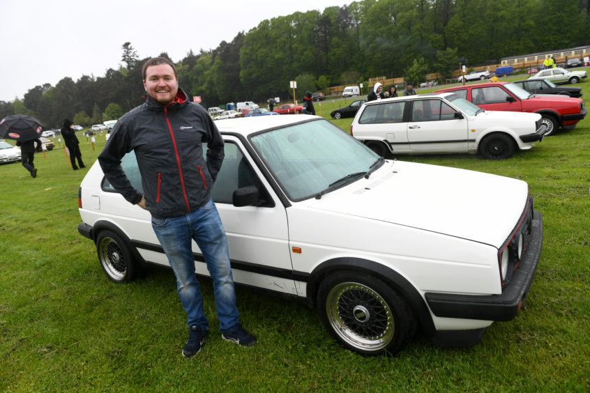 Andrew Coull, VW Golf Mk 2 Driver..