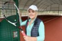 Rothiemurchus and Aviemore Tennis Club coach Lauren Gunning in their new all-weather facilities.