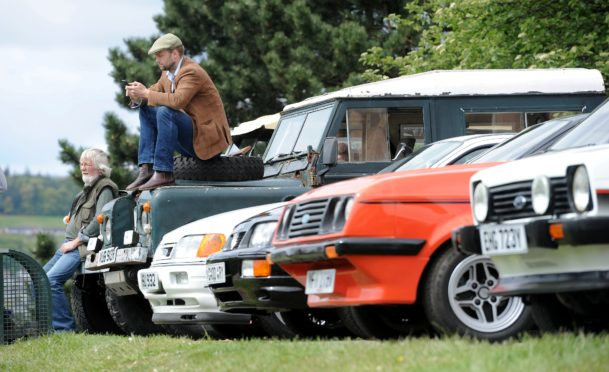 The Inverness  Classic Vehicle Show took place on Saturday with vehicles being displayed throughout the city centre.