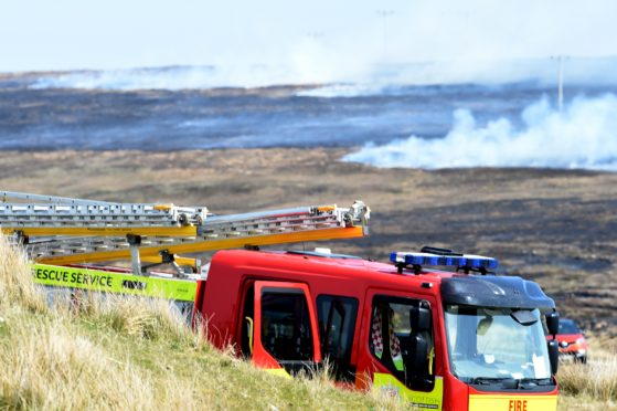 Fire crews from across the north attended the 20 square km fire between Melvich and the Strathy North wind farm in Sutherland.