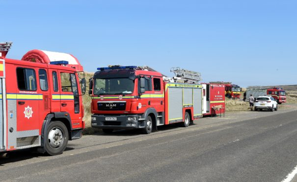 Firecrews from across the north attended the 20 square km fire between Melvich and the Strathy North wind farm in Sutherland.