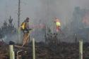 The Dunphail wild fire.