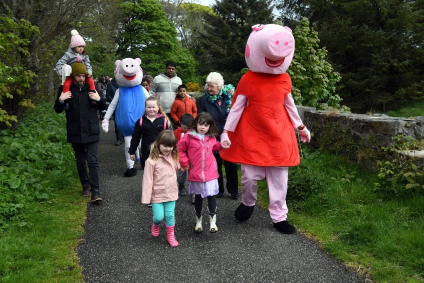 More than 100 parents and toddlers took part in the Peppa Pig themed event