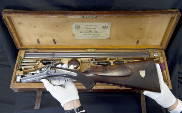 A hunting rifle, presented by Queen Victoria to John Brown, is going on public display. Pic: Neil Hanna.