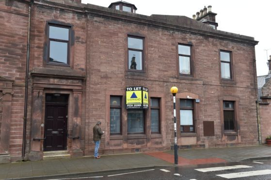 The former RBS Bank in High Street, Turriff