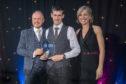 Kyle Garden receiving his award