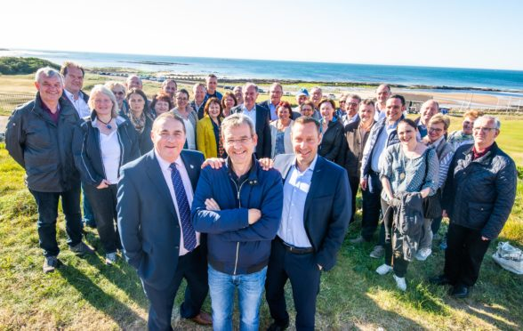 A group of 37 mayors from Nuremberg area of Germany are visiting Lossiemouth, Moray.