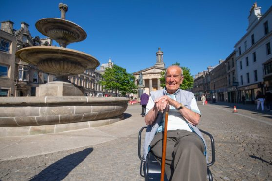 99 year old Henry Heep from the Stirling aria, has for the last 40 years driven to Moray for his holidays.