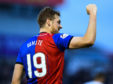 Inverness CT's Jordan White celebrates his goal