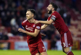 Greg Stewart goal allows Graeme Shinnie to leave Pittodrie on a high as Aberdeen beat Hearts 2-1