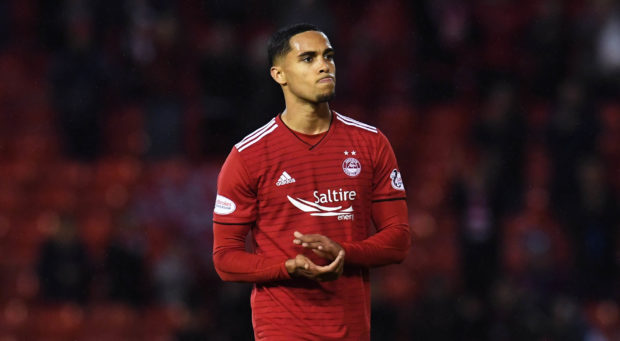 On-loan Aberdeen defender Max Lowe.