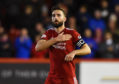 Graeme Shinnie played his last game for Aberdeen at Pittodrie last night.