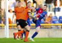 Liam Polworth was sent off for this challenge on Mark Connolly.