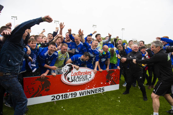 Cove Rangers celebrated becoming a League 2 side.