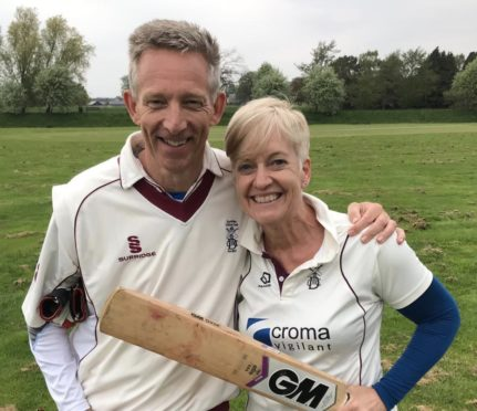 Sue Strachan, with husband Dave, will become the first-ever president of Cricket Scotland in 2020.