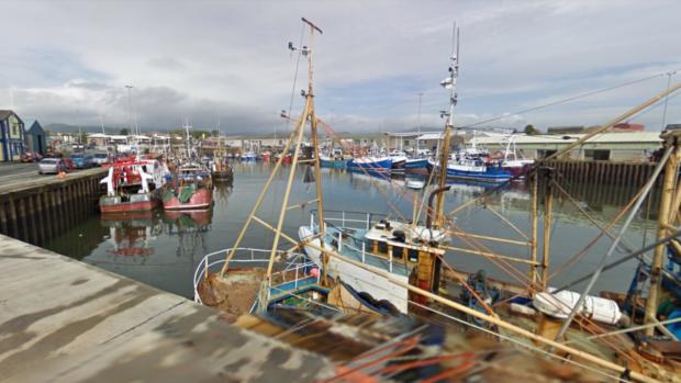 Kilkeel Harbour in Northern Ireland.