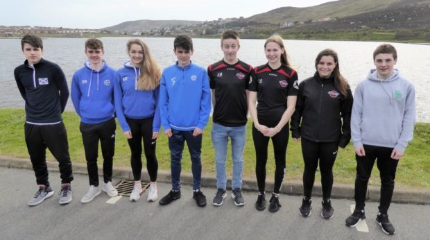 Athlete travel fund recipients Bobby Laurenson (Volleyball), Shay Regan (Athletics), Katie Dinwoodie (Athletics), Finn Regan (Football), Adam Millar (Swimming), Lauren Sandison (Swimming), Freya Masson (Swimming) and Tom Nicolson (Swimming).