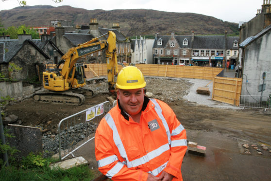 Stevie Gunn, project manager of the new cinema project in Fort William.