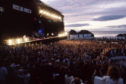 Wet Wet Wet play to thousands of fans at Tarlair Swimming Pool near Macduff on June, 25 1994.