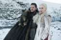 "Picture shows Kit Harington as Jon Snow, left, and Emilia Clarke as Daenerys Targaryen in a scene from ""Game of Thrones,"" which premiered its eighth season last month."