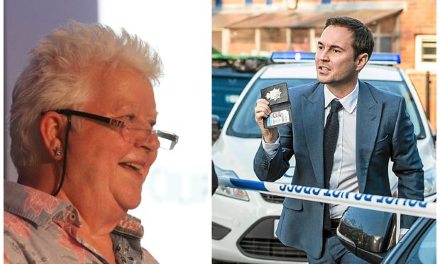 Val McDermid (left) came up with the idea for the show, which will star Martin Compston (pictured in Line of Duty)