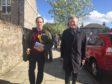 Martin Greig and Willie Rennie in Aberdeen.  Picture: Joanne Warnock