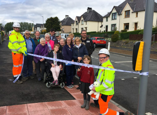 The new crossing at Corpach officially opens