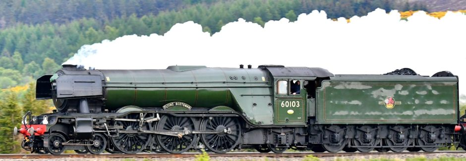 The Flying Scotsman at Culloden Viaduct