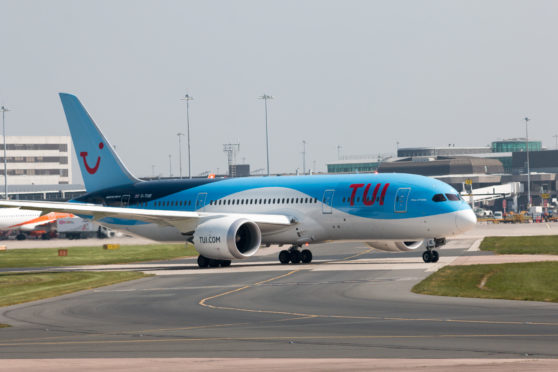 TUI Airlines Boeing 787-8 Dreamliner wide-body passenger plane