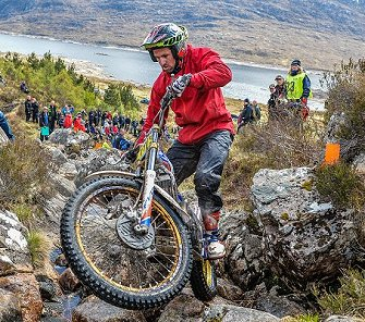 James Dabill took a second-day lead at the Scottish Six Days Trial.