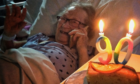 Maysie McLeod celebrated her 90th birthday in hospital