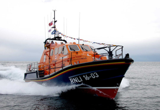 The Misses Robertson of Kintail - Peterhead lifeboat