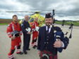 Piper Ross McNaughton, Robert Gordon College's piping instructor, has composed a tune, Angels of the Glens in the support of Scotland's Charity Air Ambulance.