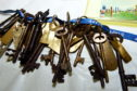 Some of the lighthouse keys when they were taken to the Scottish Lighthouse museum, Fraserburgh, on a visit last year Picture by Jim Irvine  5-9-18