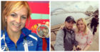 Stephanie with her Commonwealth Games medal in 2014 (left) and on holiday with her partner Ally.