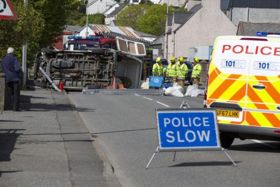 The crash in Stornoway.