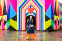 Morag Myerscough with her installation Love At First Sight.